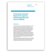 White paper on protecting your business against distributed denial of service (DDoS) attacks