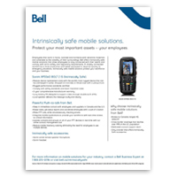 Protect your employees with Bell's intrinsically safe devices