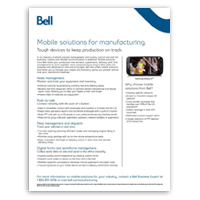 Mobile solutions for manufacturing