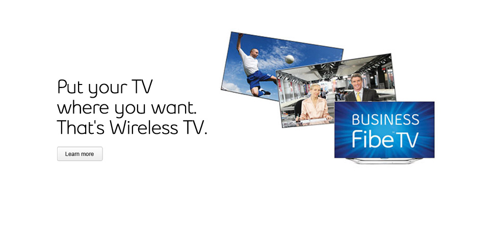 Wireless TV from Bell Business Fibe TV