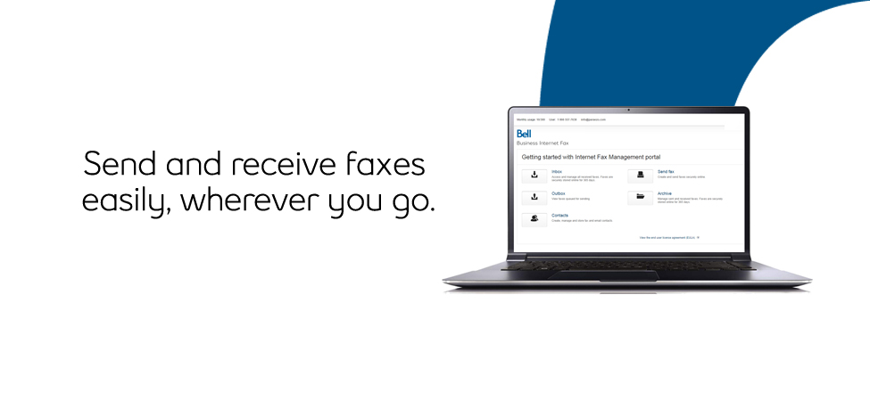 Send and receive faxes easily, wherever you go with Bell Business Internet Fax